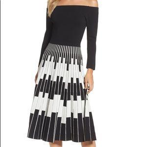Eliza J Off shoulder midi dress